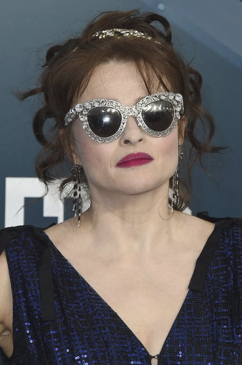 El excesivo beauty look de Helena Bonham Carter en los Premios Sindicato de Actores 2020