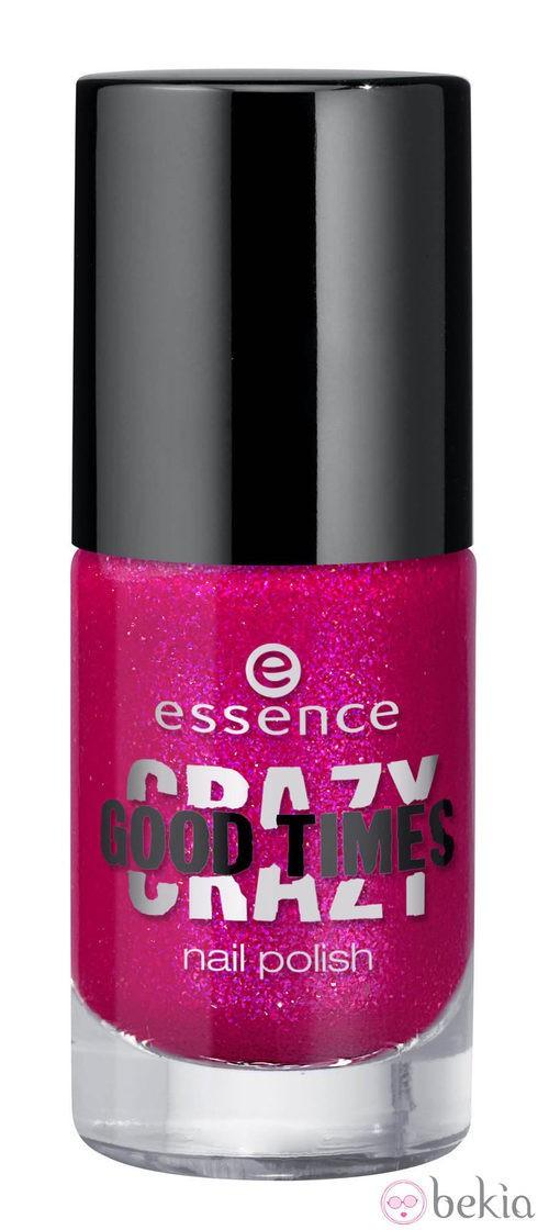 Esmalte de uñas fucsia de la línea 'Crazy Good Times' de Essence