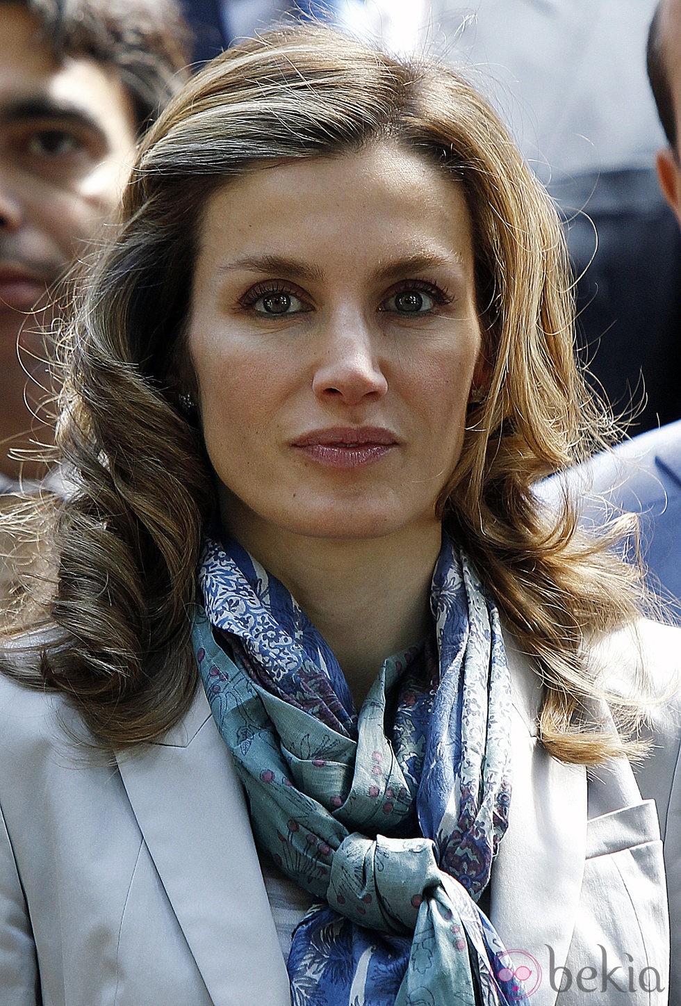 La princesa Letizia con melena ondulada