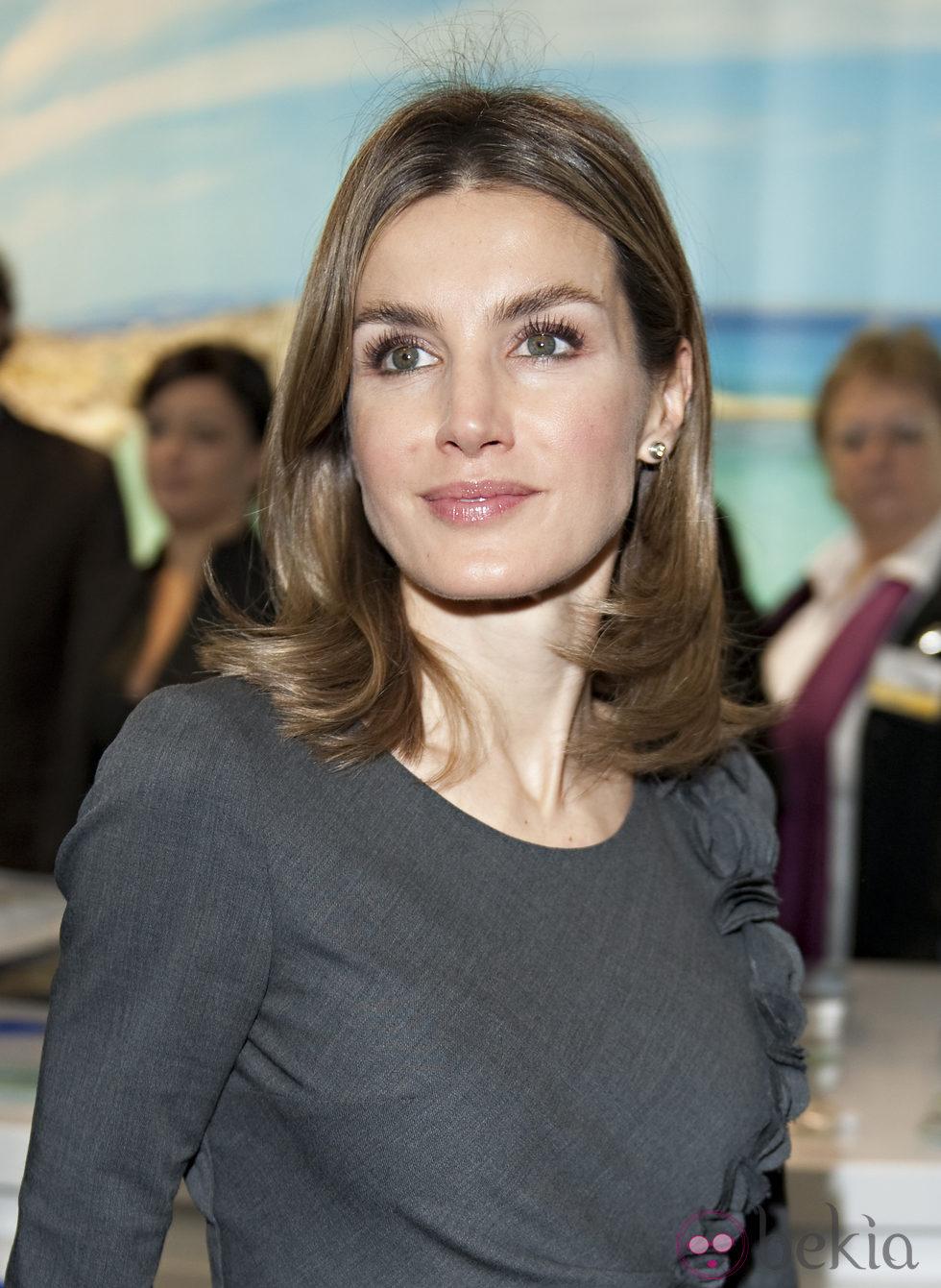 La Princesa Letizia con melena y puntas marcadas