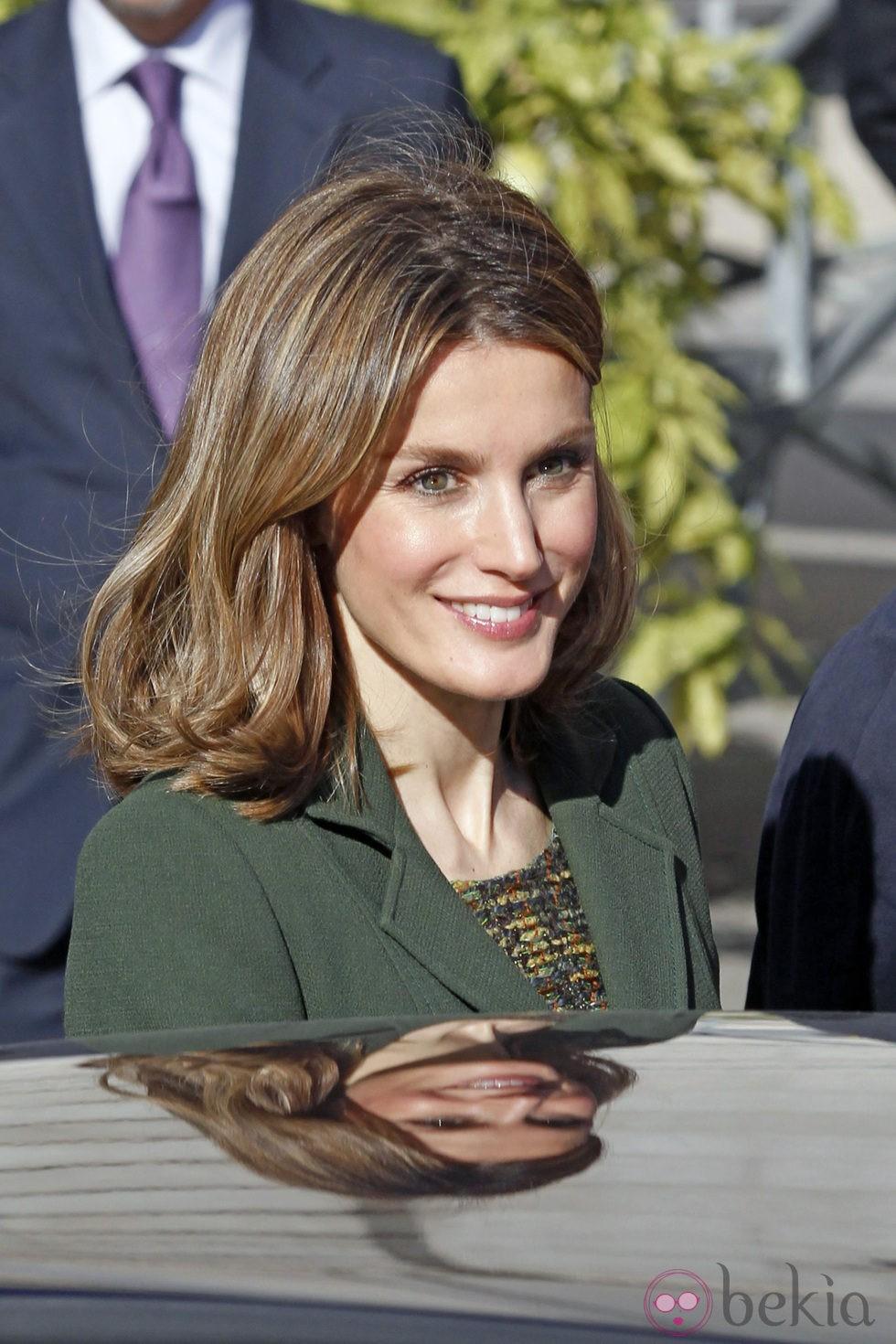 Peinado ondulado de la princesa Letizia
