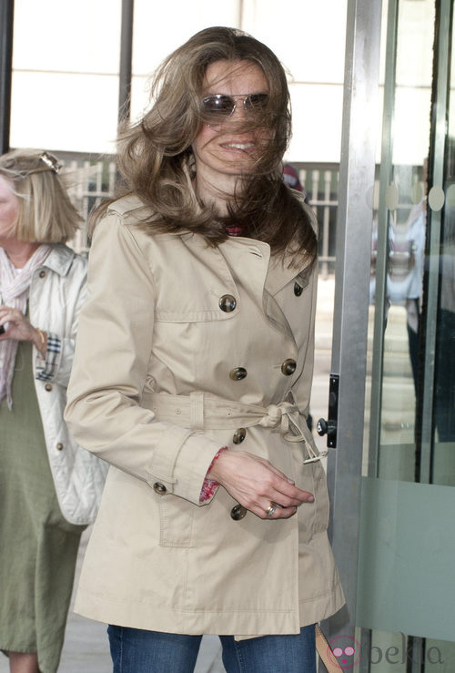 La princesa Letizia despeinada durante una visita a Londres