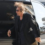 Al Pacino con el pelo despeinado por el viento