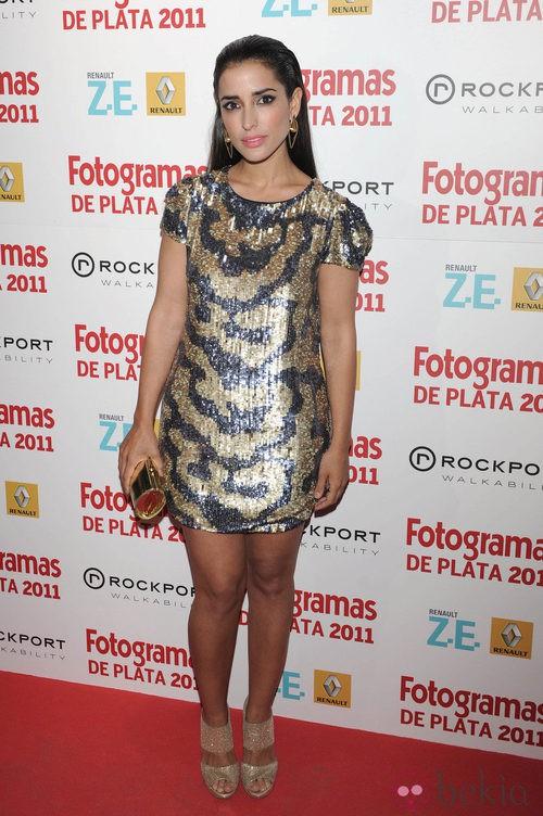 Inma Cuesta con pelo engominado en los Fotogramas de Plata 2011