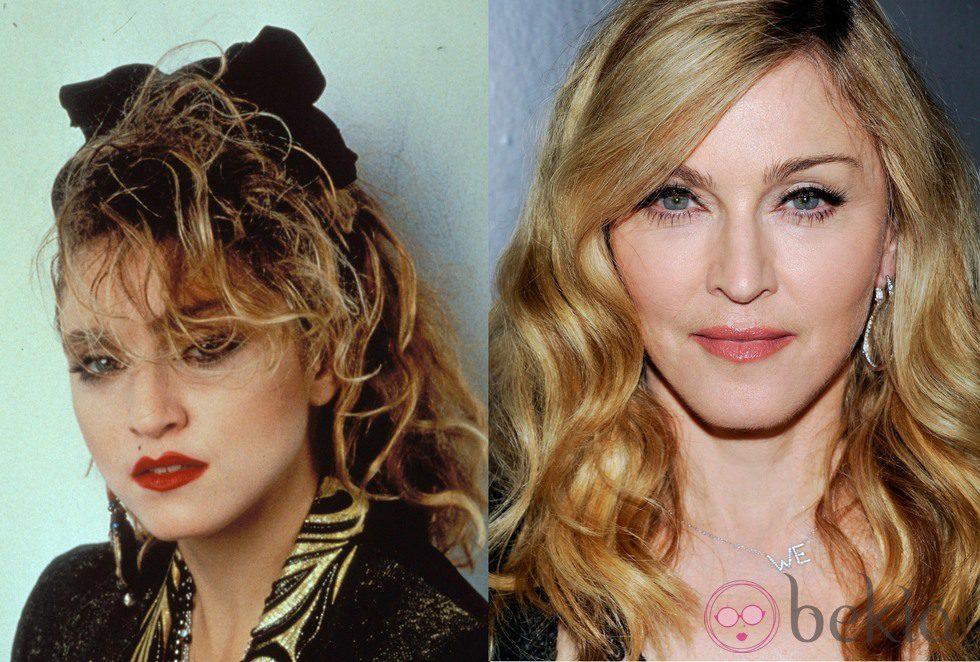 El antes y el después de Madonna