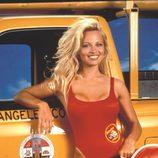 Pamela Anderson antes de retocarse los labios mediante cirugía estética