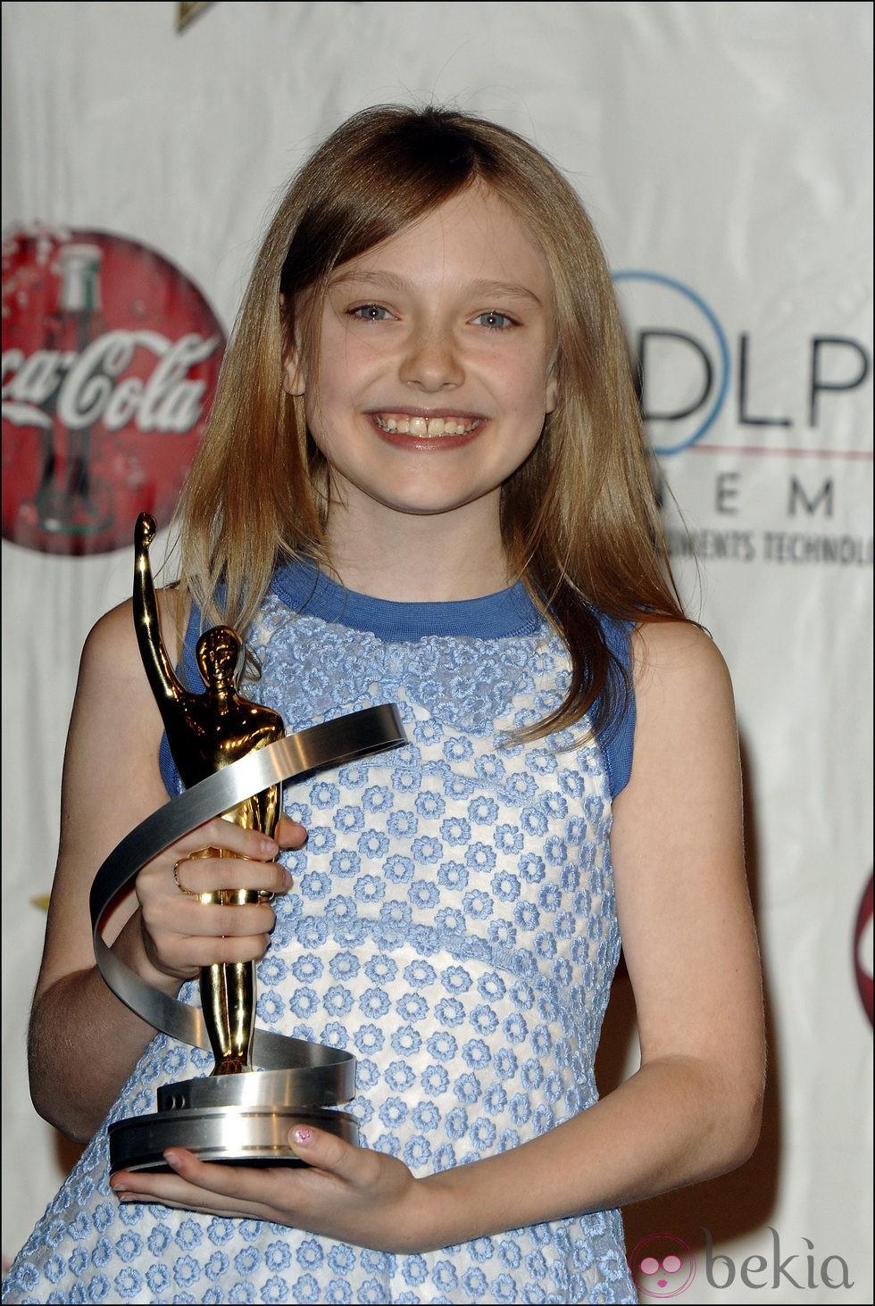 Dakota Fanning antes de ponerse ortodoncia