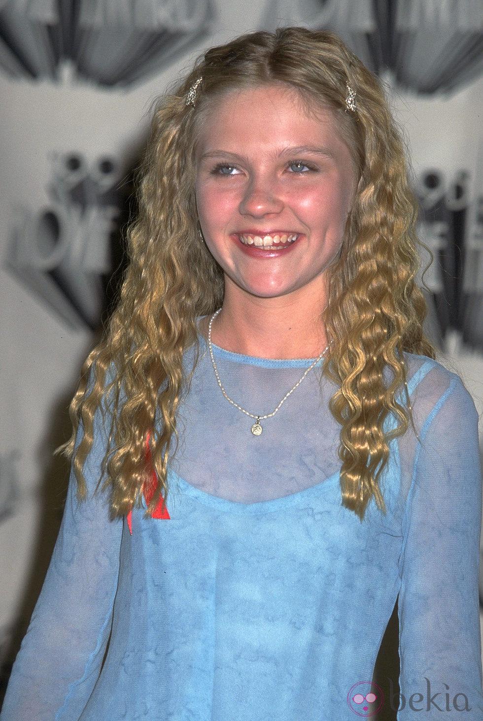 Kirsten Dunst antes de ponerse ortodoncia