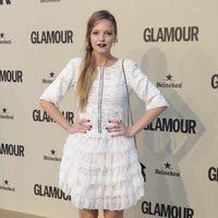 Los labios góticos de Laura Hayden en el décimo aniversario de Glamour