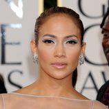 Jennifer Lopez con pestañas postizas