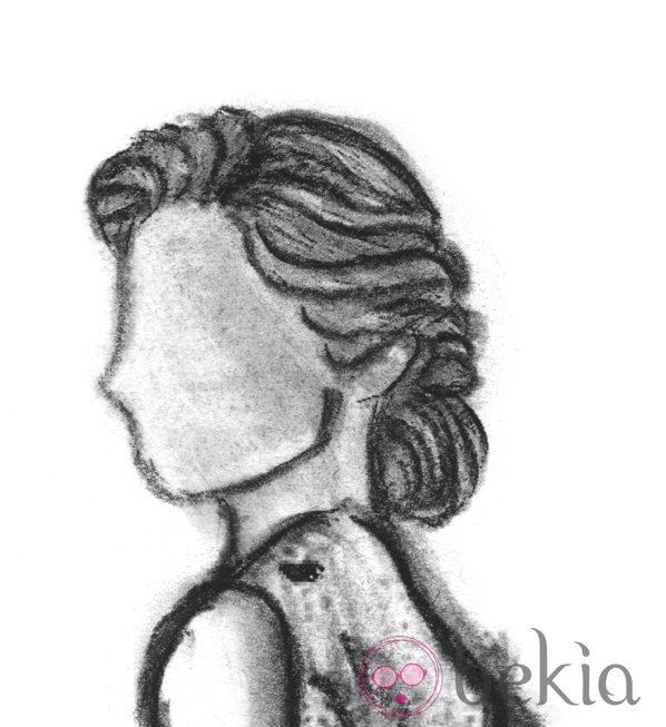 Boceto de un recogido años 50, uno de los peinados de los Goya 2013