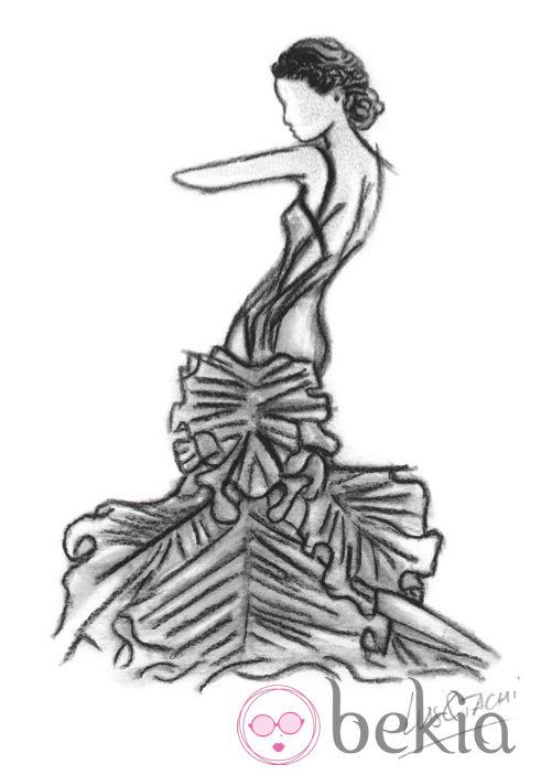 Peinados de los Goya 2013: boceto de un trenzado de inspiración helénica