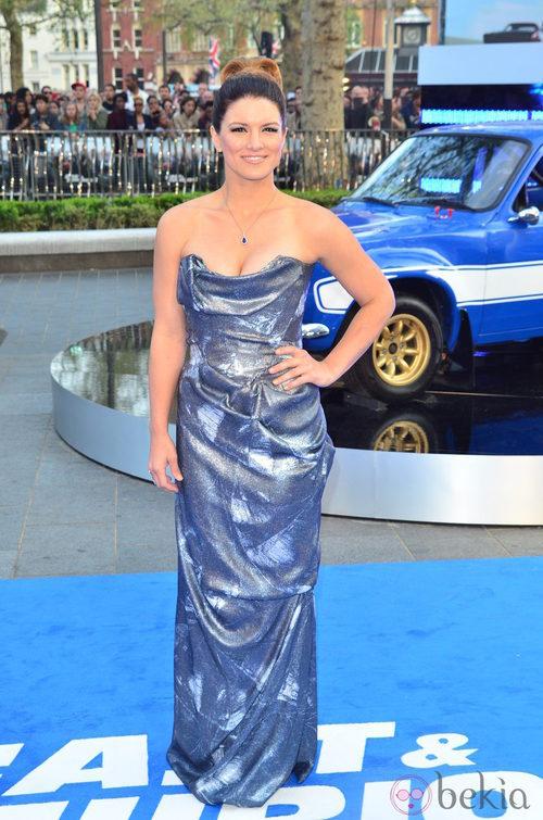 Look de Gina Carano en el estreno de 'Fast&Furious 6' en Londres