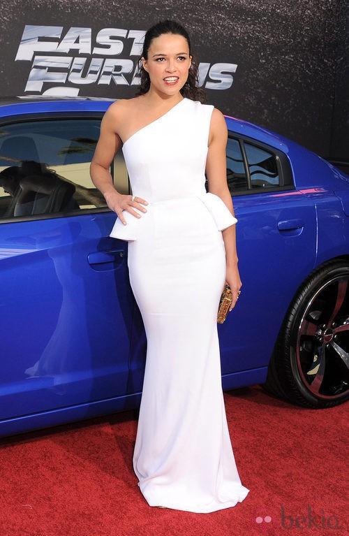 Look de Michelle Rodriguez en el estreno de 'Fast & Furious 6' en Los Ángeles