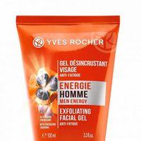 Gel desincrustante facial anti-fatiga de la línea 'Energie Homme' de Yves Rocher