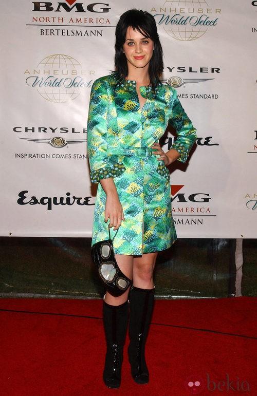 Katy Perry saltó a la fama luciendo melena cortada a capas y flequillo ladeado