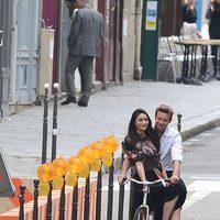 Simon Baker rodando el spot para Givenchy