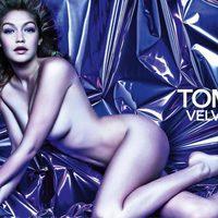 Gigi Hadid posa para la campaña del perfume de Tom Ford