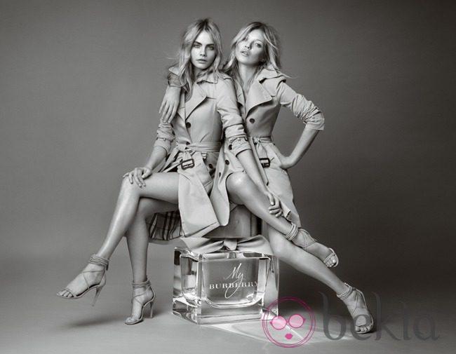Cara Delevingne y Kate Moss, juntas para Burberry