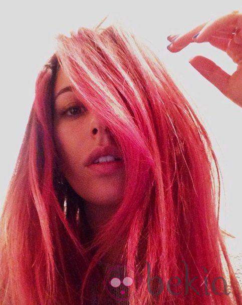 Blanca Suárez con el pelo rosa
