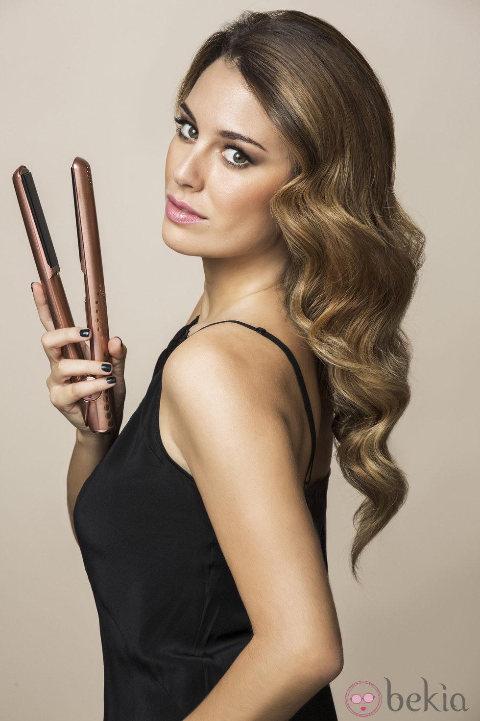 Blanca Suárez posando como imagen de ghd