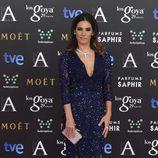 India Martínez optó por lucir melena suelta en la alfombra roja de los Goya 2015