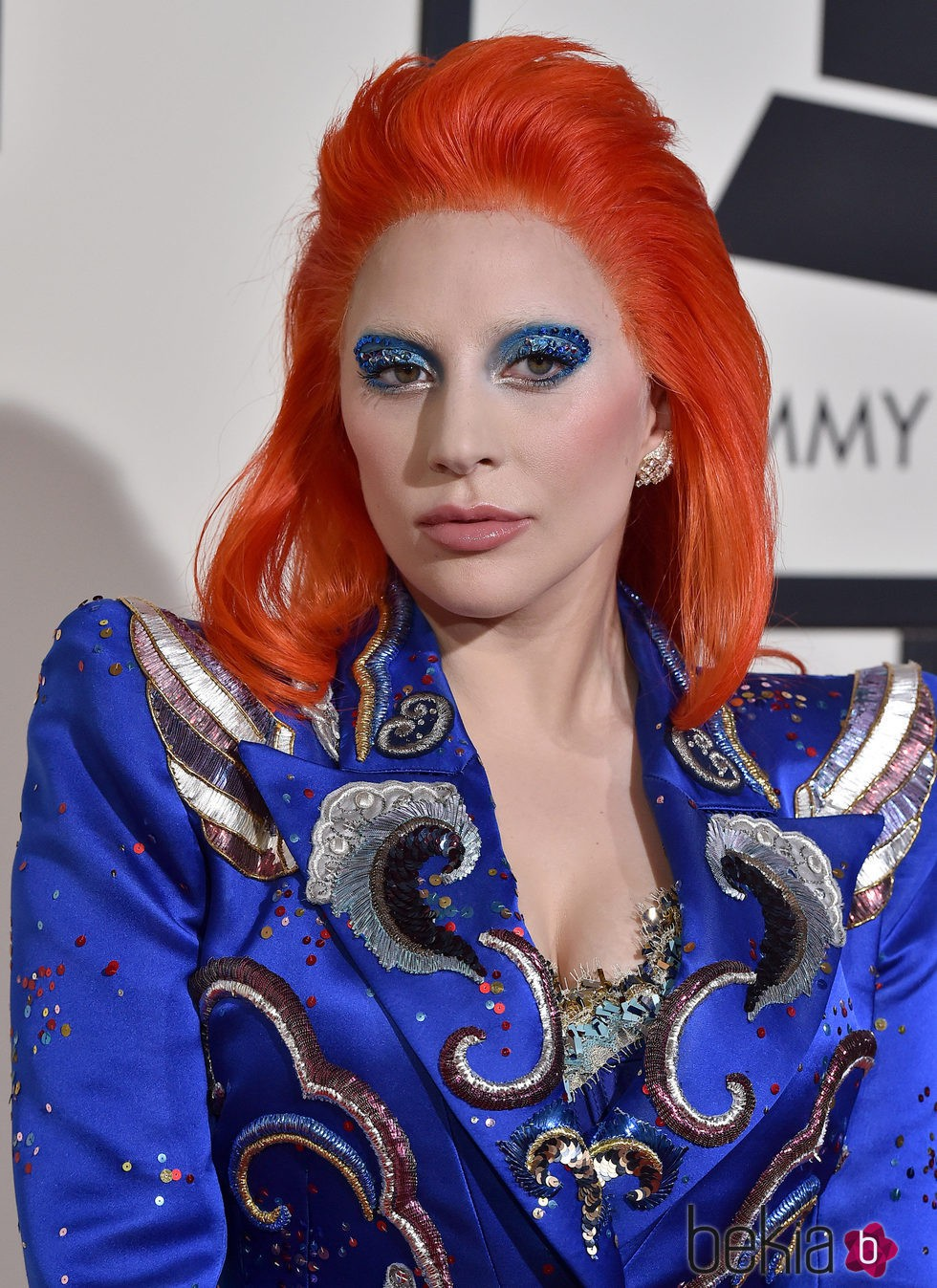 Lady Gaga con su look tributo a David Bowie