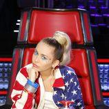 Miley Cyrus se estrena como coach de The Voice