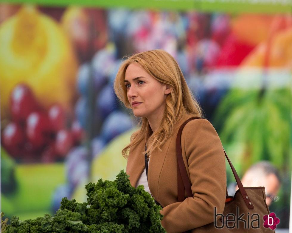 Kate Winslet durante el rodaje de Collateral Beuaty en Nueva York