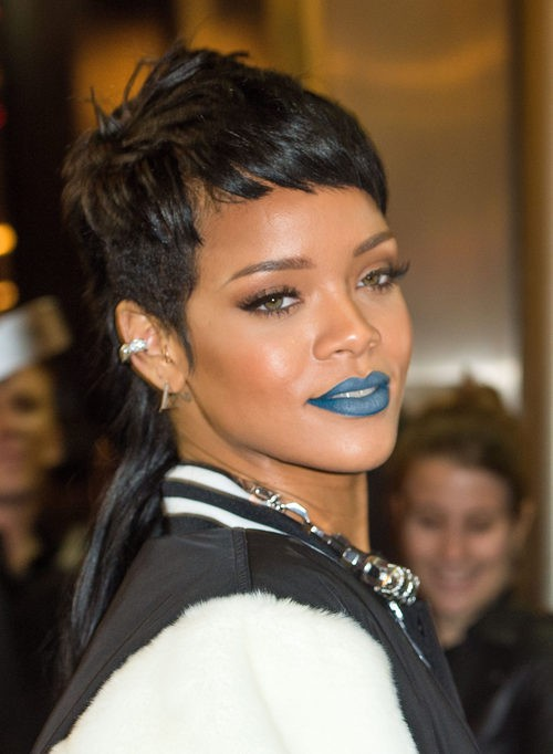 Rihanna en la presentación de su coleccion para River Island en 2014