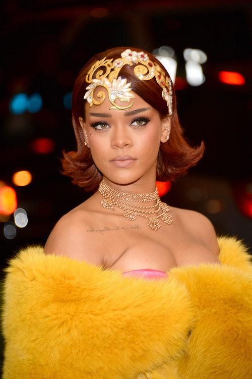 Rihanna en la red carpet de 'China: Through the looking glass' en 2015 en Nueva York