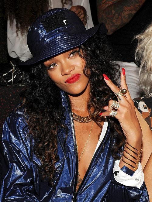 Rihanna en el desfile de Alexander Wang Fashion how en 2014