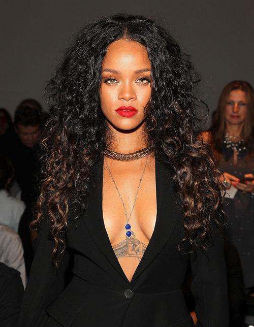 Rihanna en el front row de la Merecedes Benz Fashion Week de Nueva York en 2014