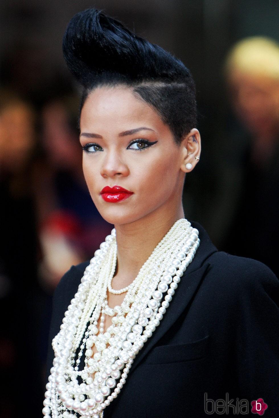 Rihanna en la premiere de Malditos Bastardos en Londres en 2009