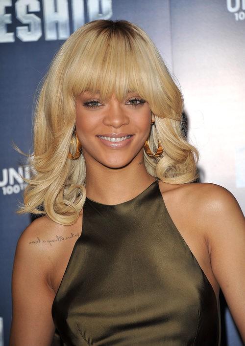 Rihanna en la premiere de Battleship en Londres en 2012
