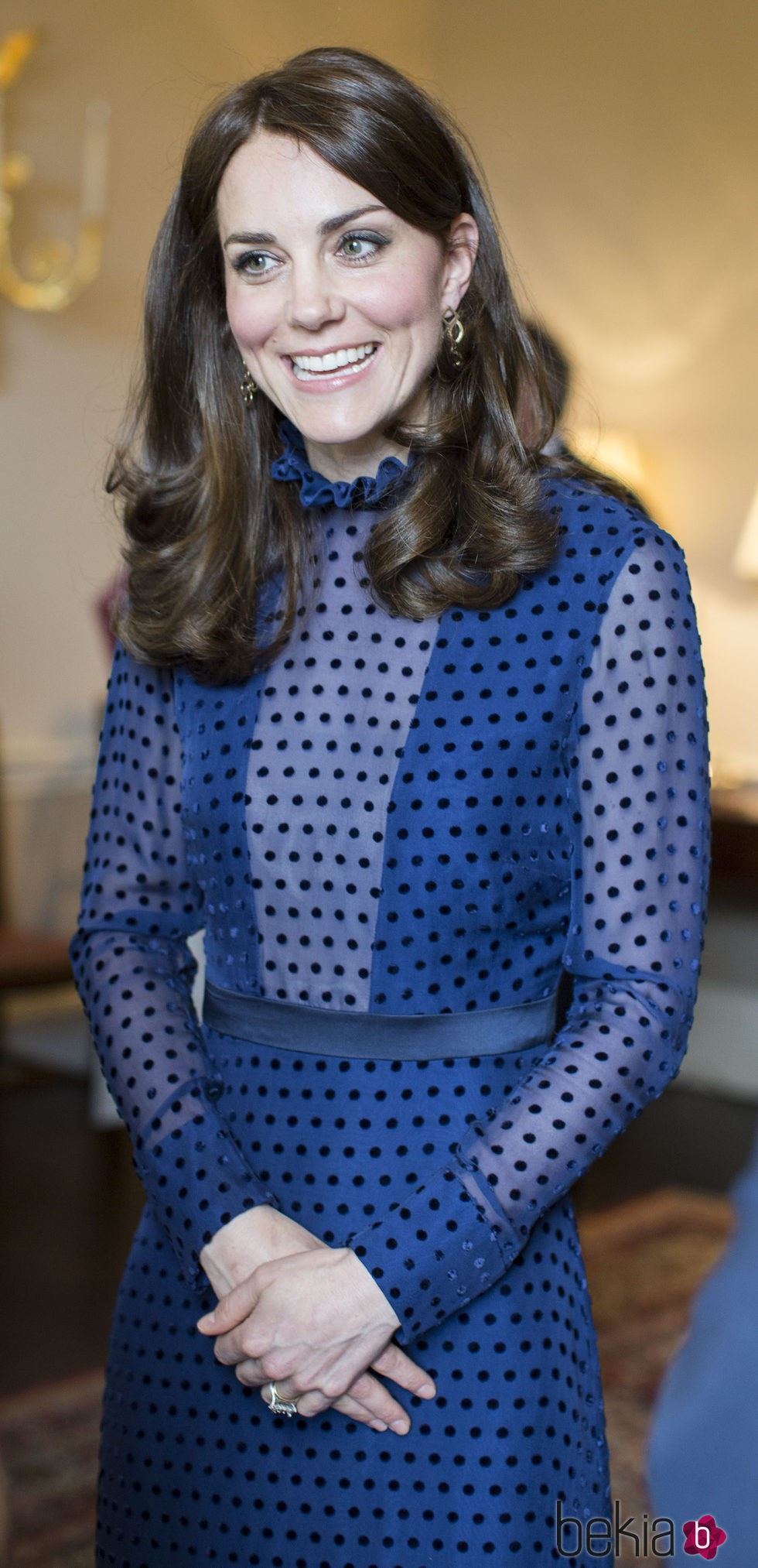 Kate Middleton en la recepcion en el Kensington Palace en abril de 2016