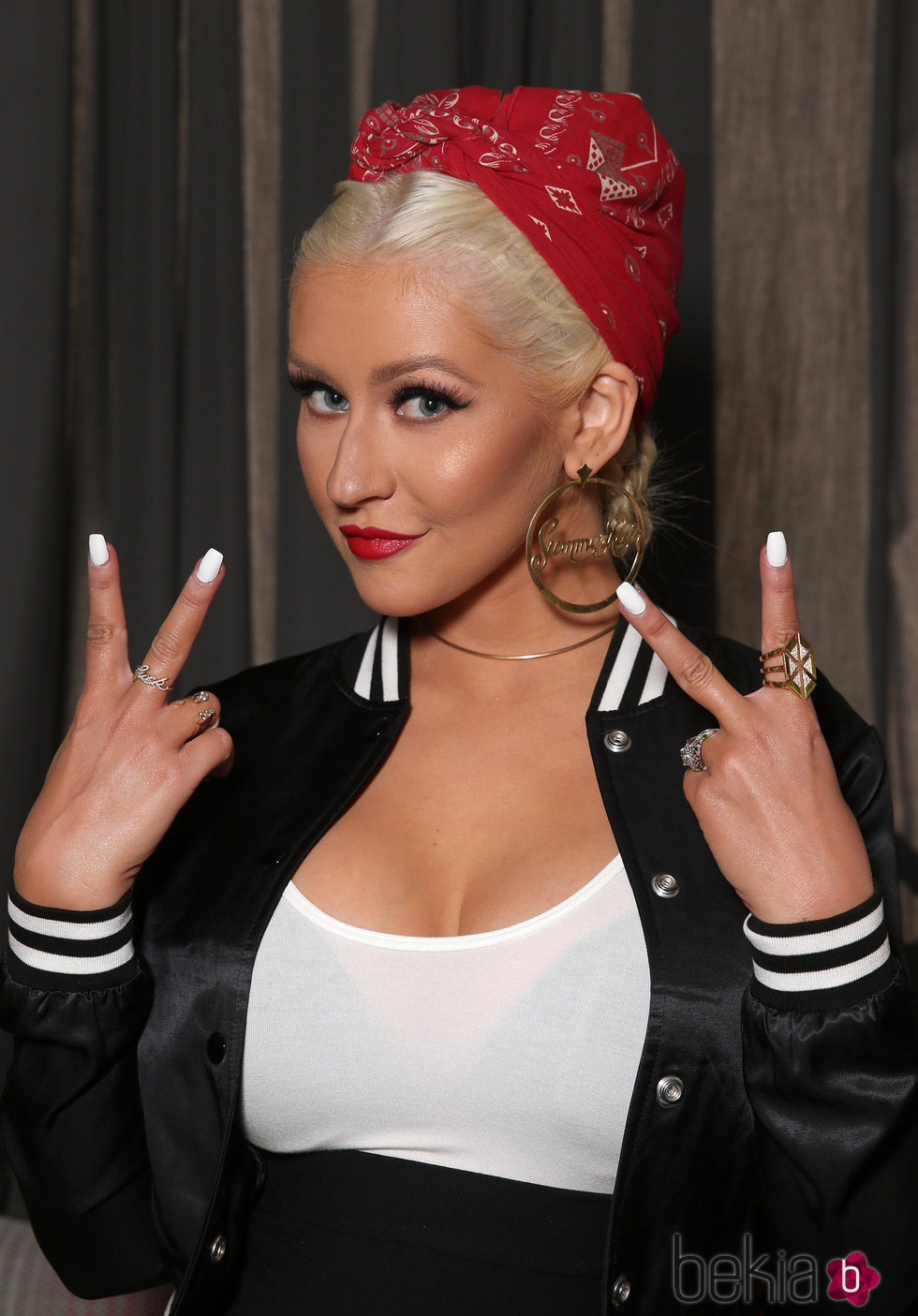 Christina aguilera en 'The Voice' Karaoke For Charity