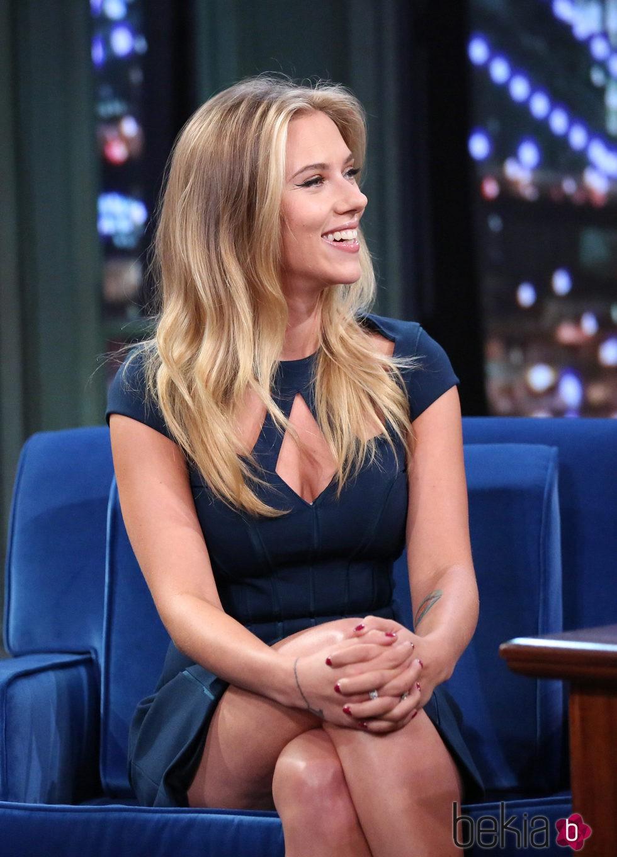 Scarlett Johansson en 2013 Late Night With Jimmy Fallon