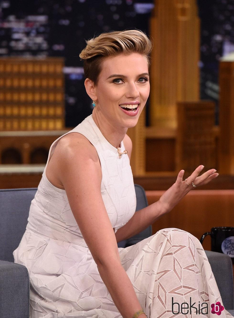 Scarlett Johansson en 2015 en 'The Tonight Show Starring Jimmy Fallon'