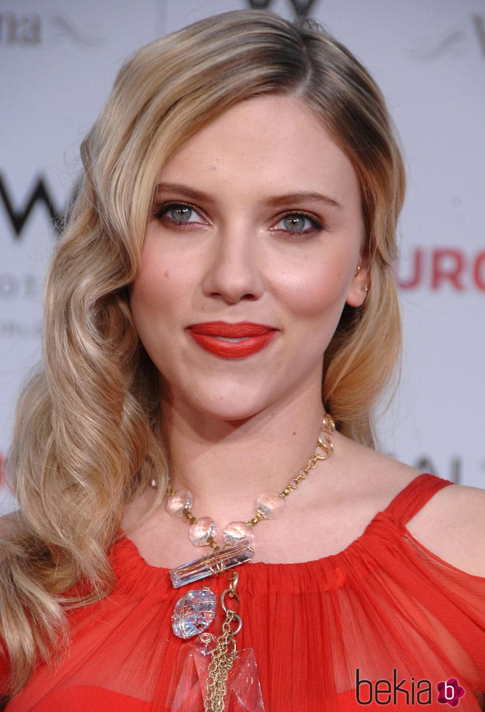 Scarlett Johansson en el estreno de Vicky Cristina Barcelona en 2008