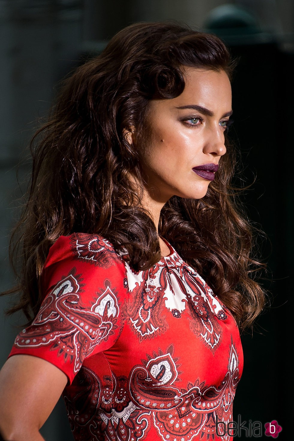 Irina Shayk durante un photoshoot en el Upper East Side