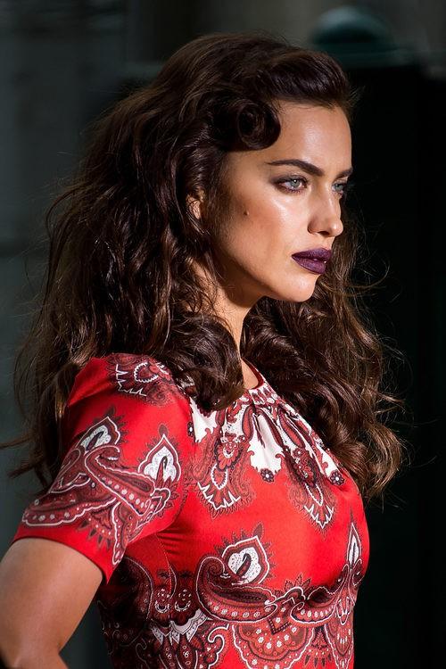 Irina Shayk durante un photoshoot en el Upper East Side