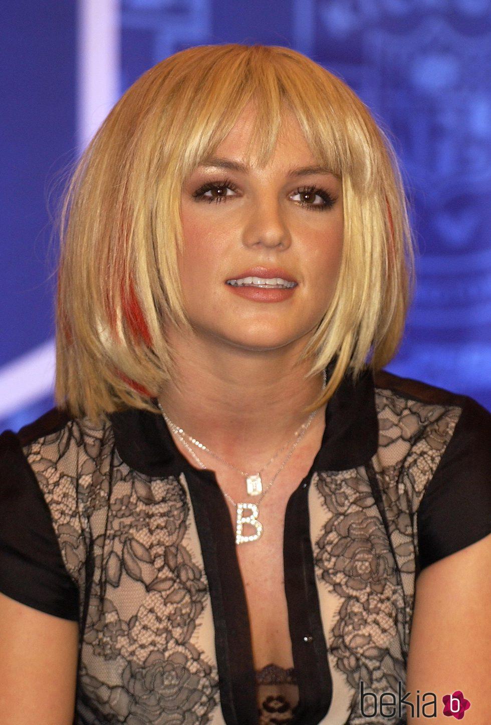 Britney Spears con peluca en corte bob
