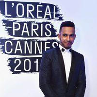 Lewis Hamilton en la fiesta 'Blue Obssesion' de L'oréal Paris durante el Festival de Cannes 2016