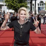 Kristen Stewart con el pelo enmaraño en el Festival de Cannes 2016