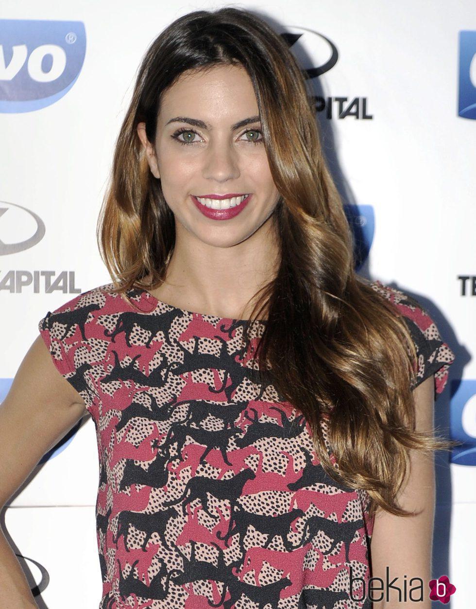 Melissa Jiménez con el pelo largo y un make up natural