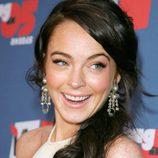 Lindsay Lohan con una coleta baja ladeada