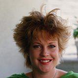 Melanie Griffith con un peinado alborotado punky