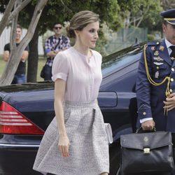 La Reina Letizia con un beauty look en recogido