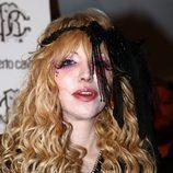 Courtney Love en la Semana de la Moda de Milán en 2010